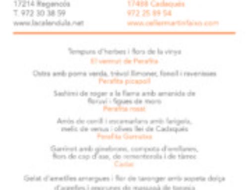 21/04: LA CALÈNDULA I CELLER MARTÍN FAIXÓ